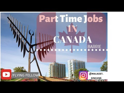 Part Time Jobs In Canada | Barrie ON |