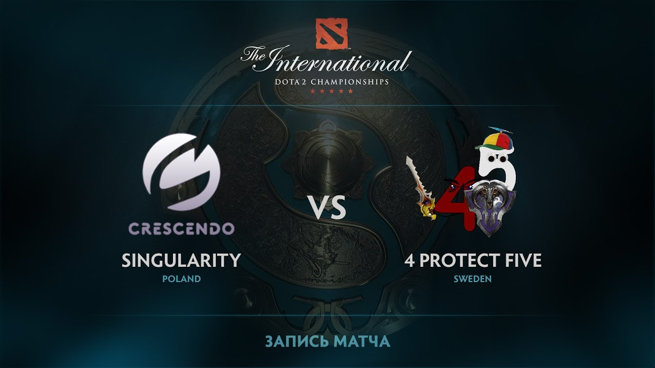 Singularity vs 4 protect Five, The International 2017 EU Qualifier