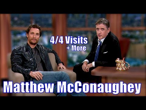 Matthew McConaughey - Recreating With Craig Ferguson - 4/4 Visits In CONTEXT & CHRONOLOGICAL Order