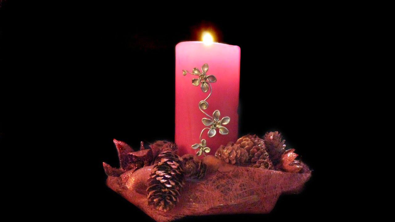 Adornos para las velas con alambre y esmalte  facilisimo