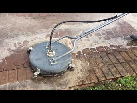 Cleaning Brick Pavers With A GP Surface Cleaner
