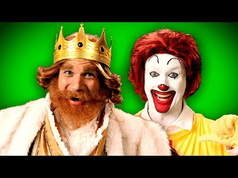 Ronald McDonald vs The Burger King. ERB Behind the Scenes