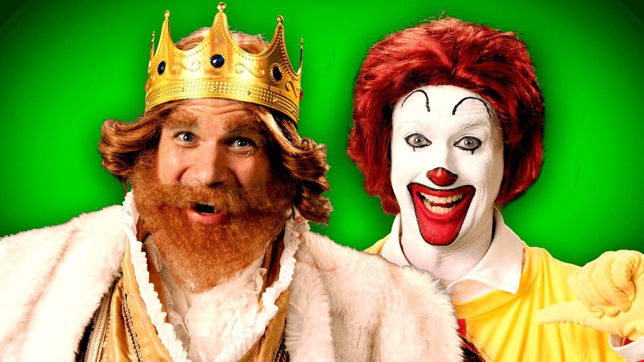 Ronald McDonald vs The Burger King  ERB Behind the Scenes