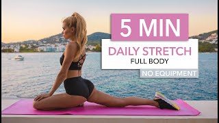 5 MIN DAILY STRETCH - a super quick routine for every day / No Equipment I Pamela Reif