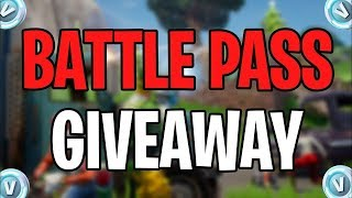 Season X Fortnite Battle Pass Giveaway! (READ DESCRIPTION) #SeasonX #FortniteGiveaway