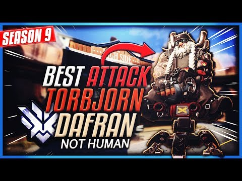 "Dafran BEST Attack TORBJORN | ""I play Torb like Tracer"" [S9 TOP 500]"