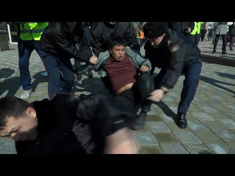 Police in Kazakhstan detain dozens after activist's death | AFP