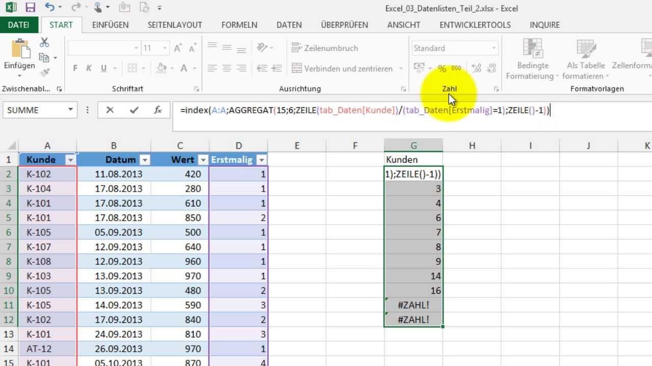 Excel # 352 - Liste ohne Doppelte - Intelligente Tabellen und ...