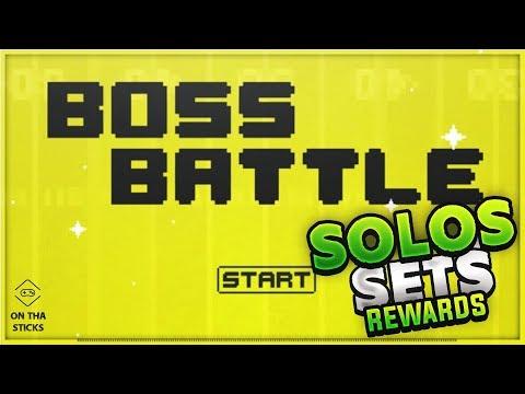 Madden 18 Ultimate Team Boss Battle & Heroic Boss Battle Solos Sets Rewards #MUT