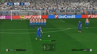 PES 2017 | Leicester City vs Atletico Madrid | Free Kick Goal Jamie Vardy | UEFA Champions League