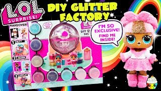 LOL Surprise DIY Glitter Factory Makeover Your LOL dolls+Exclusive Doll