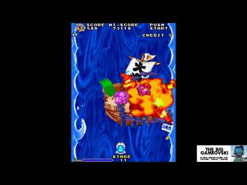 Space Invaders 95 - amusant remake façon Parodius... TBG456