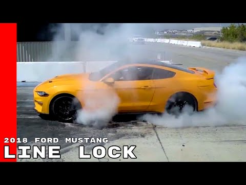 New 2018 Ford Mustang Line Lock - Burnouts Just Never Get Old