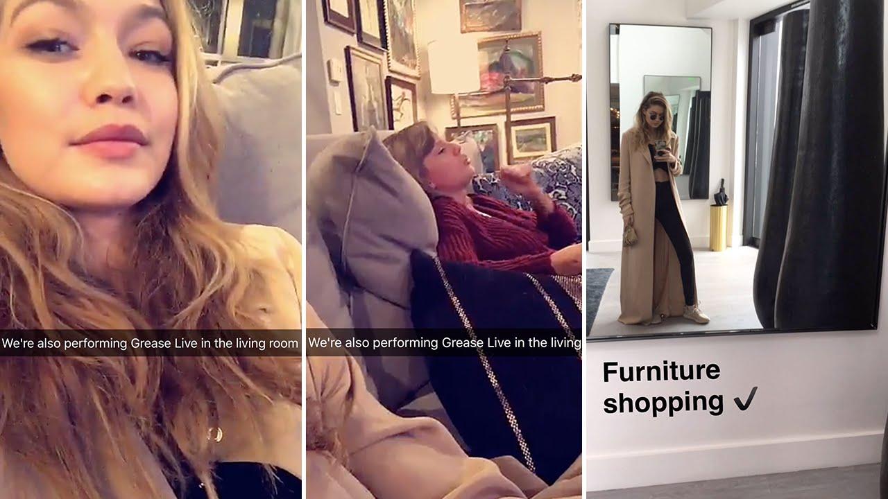 Gigi Hadid January 31st 2016 Full Snapchat Story Ft Taylor Swift Youtube