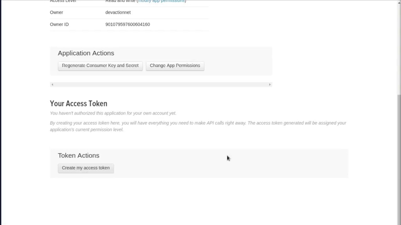 How to create a Twitter app (generate API key and access token) in two  minutes