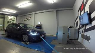 VW Golf 7 tdi 150cv DSG Reprogrammation Moteur @ 196cv Digiservices Paris 77 Dyno