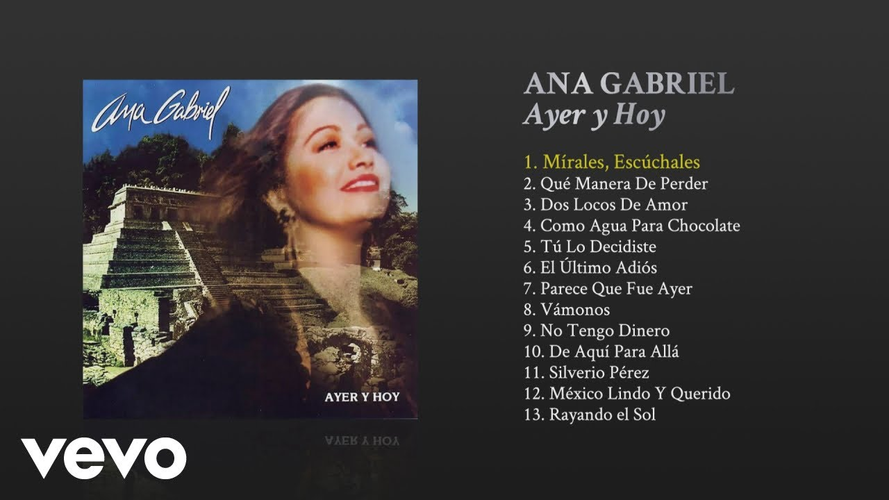 Ana Gabriel Mirales Escuchales Cover Audio Youtube