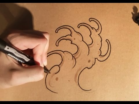 How To Draw Tattoo Waves By Thebrokenpuppet