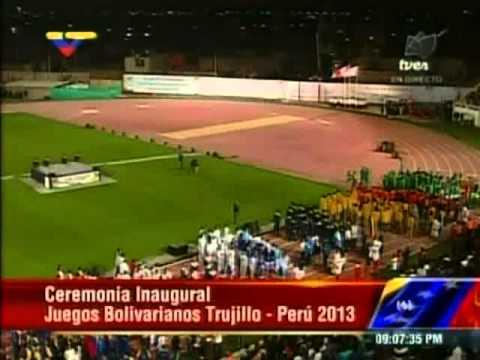 Inauguración de los XVII Juegos Bolivarianos en Perú