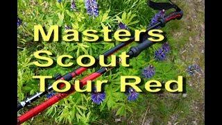 Masters Scout Tour Red | телескопические трекинговые палки