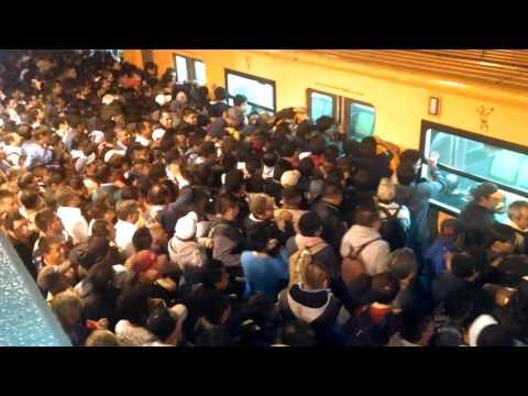Caos Metro pantitlan