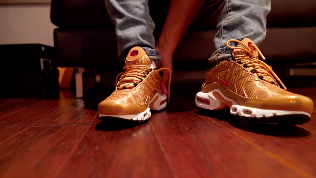 nike air max plus gold