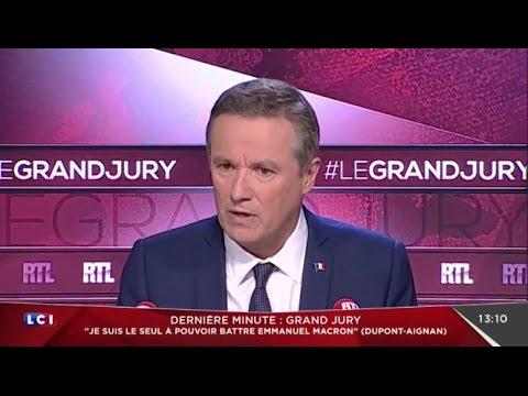 Le Grand Jury - Nicolas Dupont-Aignan dévoile son projet aux Français sur RTL et LCI
