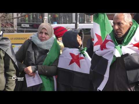 السوريون يتظاهرون في برلين إحياء لذكرى الثورة  - 09:21-2018 / 3 / 18