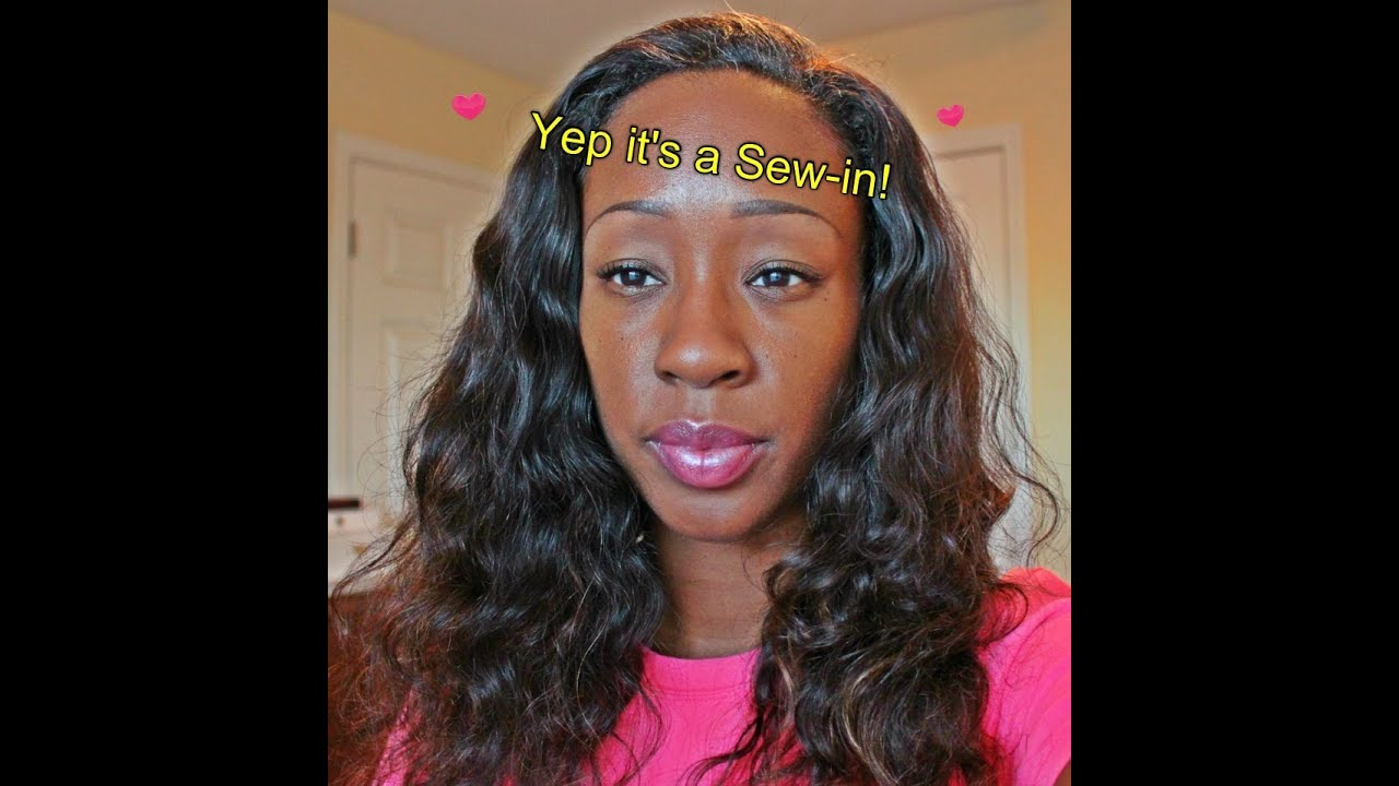 Sew In For Short Hair Diytutorial Youtube
