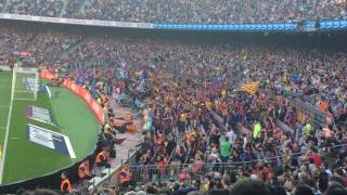 Barcelona fans singing - fcb vs deportivo
