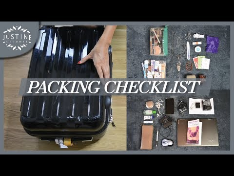 How I pack my carry-on suitcase for a short trip | Packing checklist | Justine Leconte