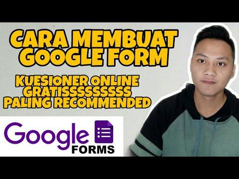 Cara Membuat Kuesioner Online Google Forms - 동영상