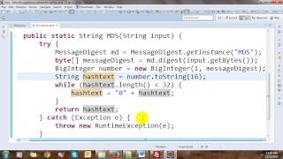 Generate Secure Password with MD5 and SHA1 in Java
