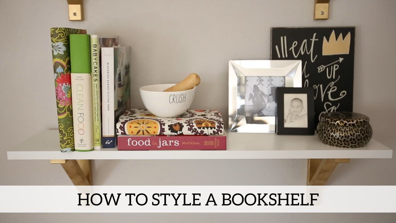 Superb How To Style A Bookshelf   Home Decor DIY   YouTube