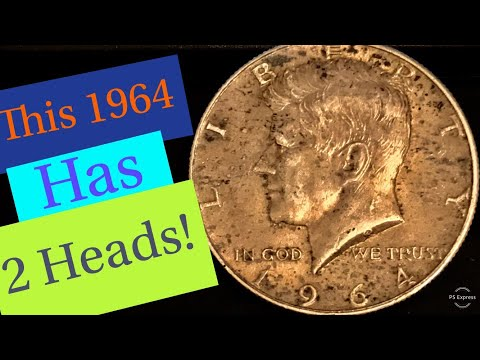 Rare Double Headed 1964 Silver Half Dollar!
