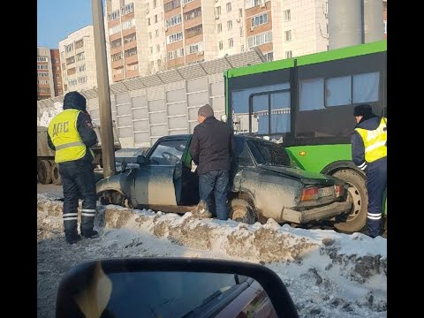 ДТП с автобусом, Тюмень, объездная, 10 01 2020
