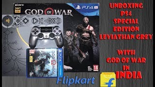 Unboxing PS4 Pro Special Edition Leviathan Grey Bought From Flipkart in INDIA ( God of War Edition )