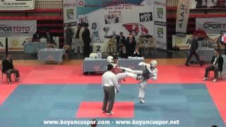 74kg Bayram Bozkurt vs Abdulkadir Bakan (2013 Turkish Senyor TKD Championships)