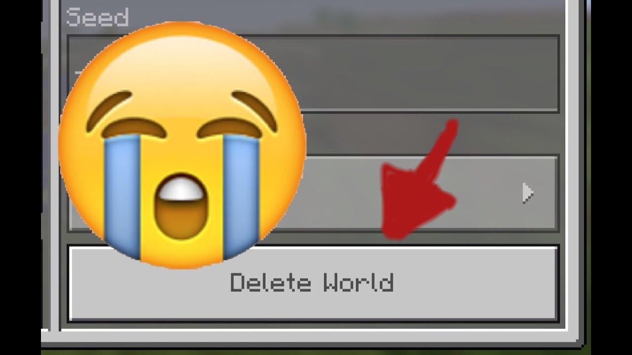 My MCPE World Got Deleted!!! 😱😱 (I Got It Back)