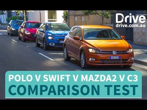 Comparison Test: 2018 Volkswagen Polo V Suzuki Swift V Mazda2 V Citroen C3 | Drive.com.au
