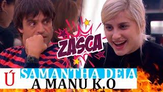 El zasca de Samantha a Manu Guix en pleno pase de micros de la gala 7 de OT 2020