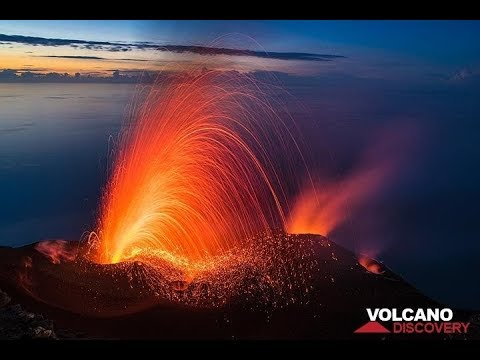 Stromboli volcano (Italy) erupts in spectacular fireworks - January 2019
