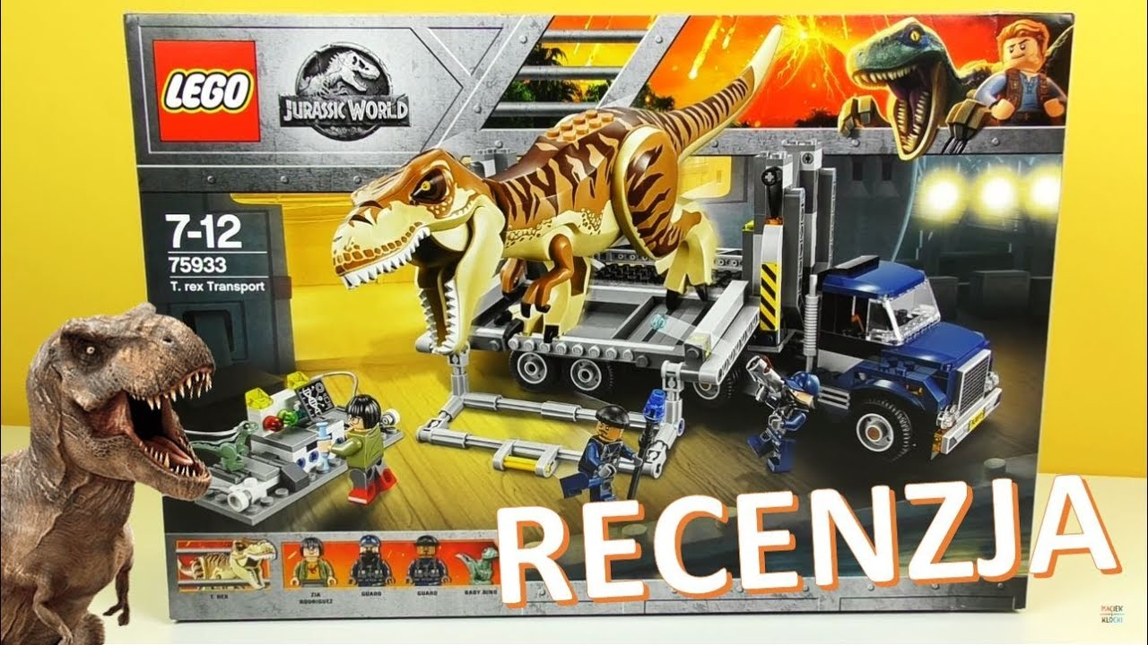 Lego Jurassic World Transport Tyranozaura 75933 Recenzja Youtube