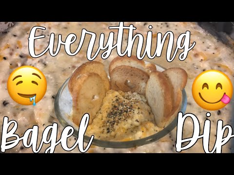 EVERYTHING BAGEL DIP // EASY PARTY RECIPE 🎉