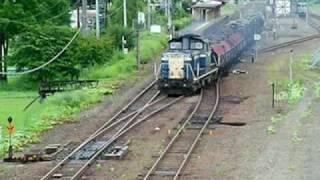 Japanese military train in Hokkaido 自衛隊機材輸送列車(根室本線池田駅) thumbnail