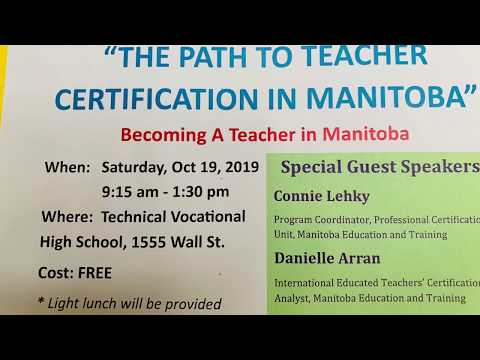 How To Become A TEACHER In Manitoba, Canada Part 1