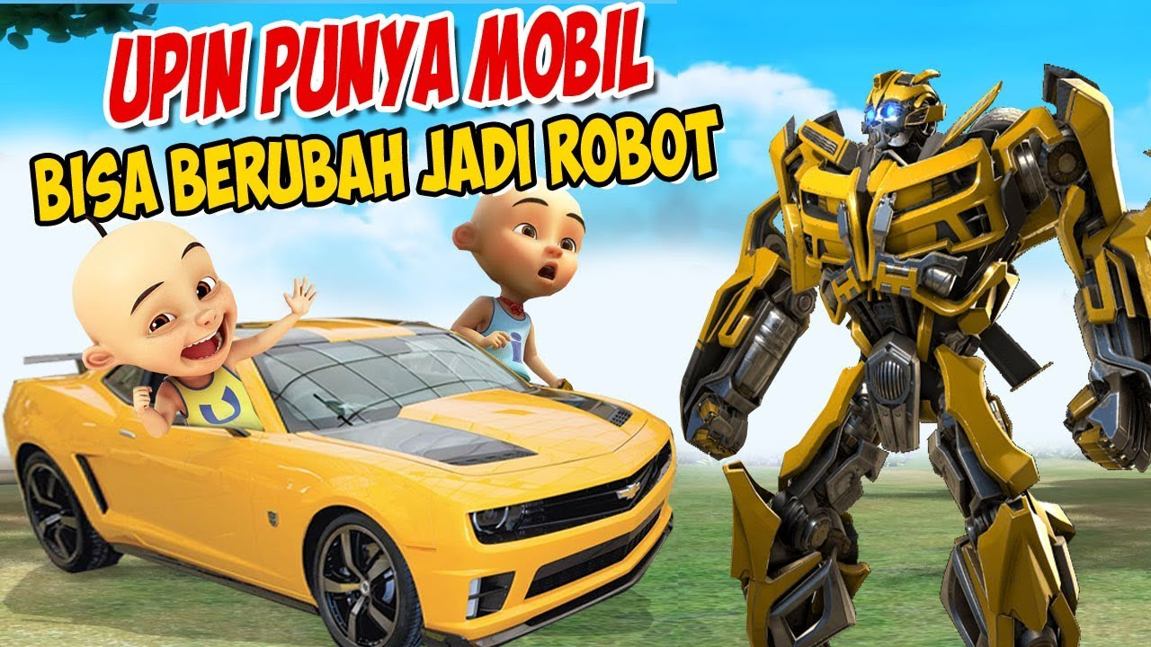 Upin Ipin Punya Mobil Bisa Berubah Jadi Robot Transfomers Ipin Senang Gta Lucu Youtube