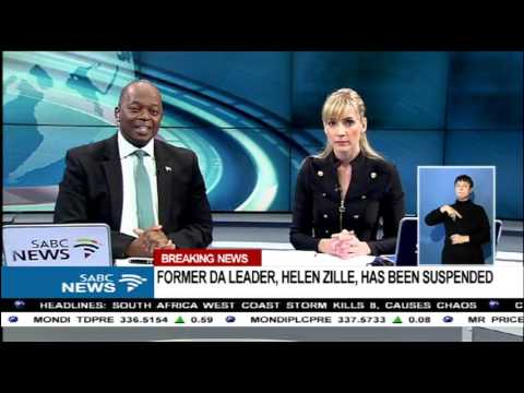 BREAKING NEWS: Helen Zille officially suspended