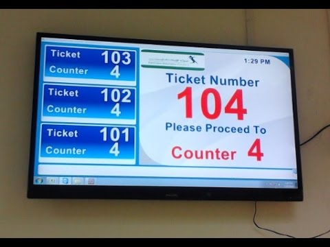 Homemade Queue System (Token System) - YouTube