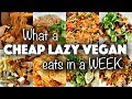 What I Ate in a WEEK as a CHEAP LAZY VEGAN #2